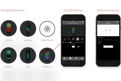 Nešiojama kolonėlė EDNET SONAR II LED Bluetooth® Speaker, 7W, 2200mAh, IPX4 Paveikslėlis 5 iš 6 310820053899