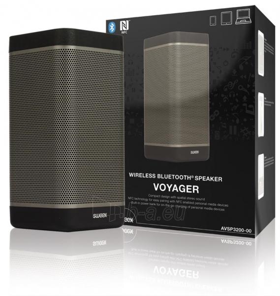 Nešiojama kolonėlė Sweex Voyager, BT3.0, NFC, 20W, Juoda Paveikslėlis 1 iš 6 310820037363