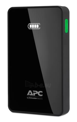APC Mobile Power Bank, 5000mAh Li-polymer (for smatphones, tablets) Black Paveikslėlis 1 iš 2 250232002733
