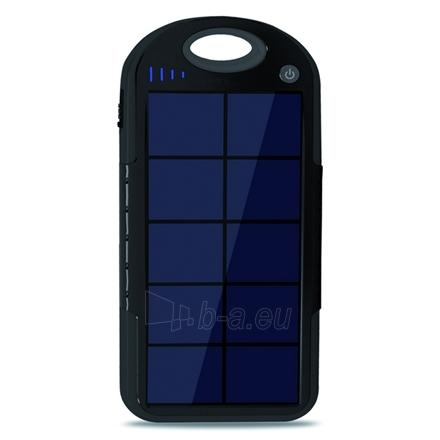 KSIX Solar Power Bank 4000 MAH micro USB, black Paveikslėlis 1 iš 3 250222040601909