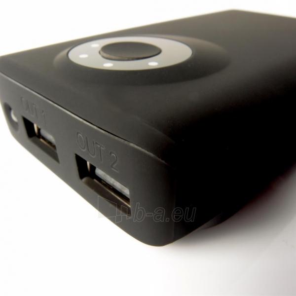 Nešiojamas įkroviklis PowerNeed PowerBank 8400mAh, USB2.1A - planš. komp., telef., black Paveikslėlis 6 iš 6 250232002650