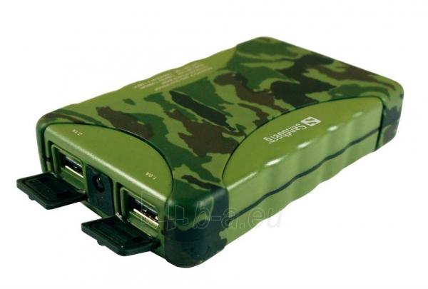 Nešiojamas įkroviklis Sandberg Outdoor power bank 10400 mAh, Atsparus Paveikslėlis 1 iš 2 250232002612