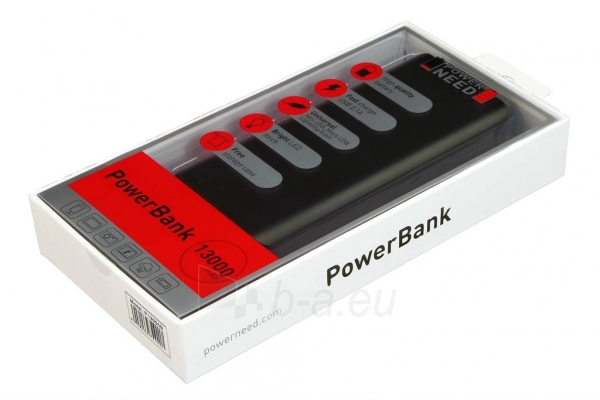 Nešiojamas įkroviklis Sunen PowerBank 13000mAh, USB2.1A- planš. komp., telefonas Paveikslėlis 7 iš 7 250232002620