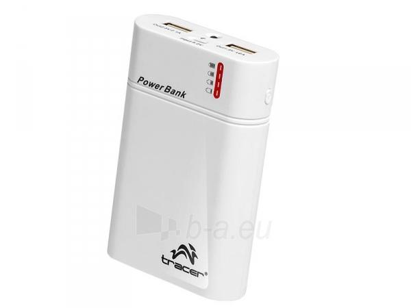 Nešiojamas įkroviklis Tracer Power Bank 8400 mAh Li-Ion Baltas Paveikslėlis 2 iš 4 250254100725