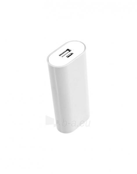 Nešiojamas įkroviklis Tracer power bank V2 5200mAh, Baltas Paveikslėlis 2 iš 2 310820014369