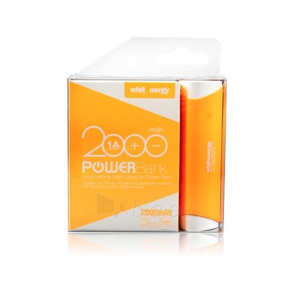 Nešiojamas įkroviklis Whitenergy power bank 2000mAh 1A, Oranžinis Paveikslėlis 2 iš 3 310820005367