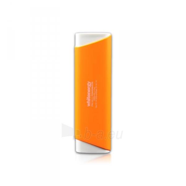 Nešiojamas įkroviklis Whitenergy power bank 2000mAh 1A, Oranžinis Paveikslėlis 3 iš 3 310820005367
