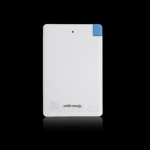 Nešiojamas įkroviklis Whitenergy power bank 2500mAh 1A, Baltas Paveikslėlis 5 iš 5 310820005372