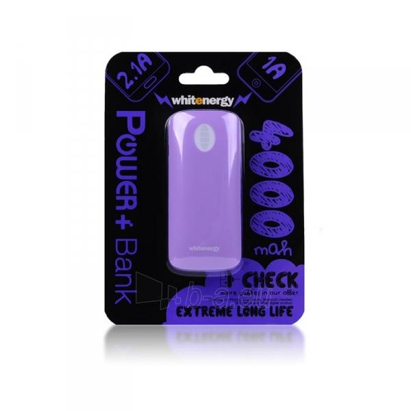 Nešiojamas įkroviklis Whitenergy power bank 4000mAh 1-2.1A, Violetinis Paveikslėlis 2 iš 6 310820005370