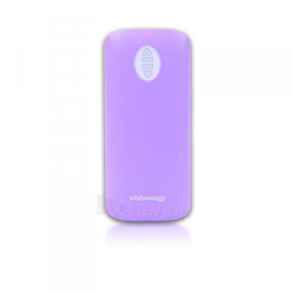 Nešiojamas įkroviklis Whitenergy power bank 4000mAh 1-2.1A, Violetinis Paveikslėlis 3 iš 6 310820005370