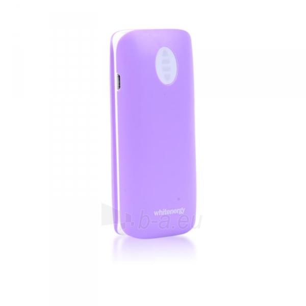 Nešiojamas įkroviklis Whitenergy power bank 4000mAh 1-2.1A, Violetinis Paveikslėlis 4 iš 6 310820005370