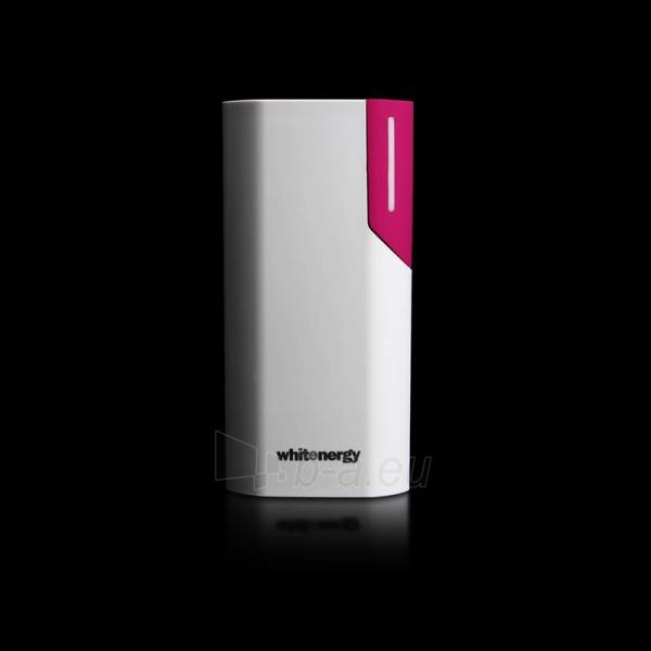 Nešiojamas įkroviklis Whitenergy power bank 4000mAh 1A, Baltas/Rožinis Paveikslėlis 4 iš 6 310820005375