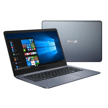 "Nešiojamas kompiuteris Asus VivoBook R420MA Gray, 14.0 "", HD, 1366 x 768 pixels, Matt, Intel Celeron, N4000, 4 GB, DDR4, Storage drive capacity 64 GB, Intel HD, Without ODD, Windows 10 Home S, 802.11 ac, Bluetooth version 4.2, Keyboard language Engl Paveikslėlis 1 iš 3 310820151349"