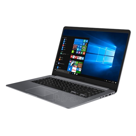 "Nešiojamas kompiuteris Asus VivoBook X510UA Grey, 15.6 "", FHD, 1920 x 1080 pixels, Matt, Intel Core i5, i5-7200U, 8 GB, DDR4, HDD 500 GB, 5400 RPM, SSD 128 GB, Intel HD, Windows 10 Home, 802.11 ac, Bluetooth version 4.2, Keyboard language English, W Paveikslėlis 1 iš 4 310820158899"