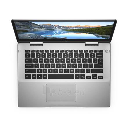 "Nešiojamas kompiuteris Dell Inspiron 14 5482 Silver, 14 "", IPS, Touchscreen, Full HD, 1920 x 1080 pixels, Intel Core i3, i3-8145U, 4 GB, DDR4, SSD 256 GB, Intel UHD, Windows 10 Home, 802.11ac, Keyboard language English, Keyboard backlit, Warranty 36 Paveikslėlis 4 iš 5 310820154499"