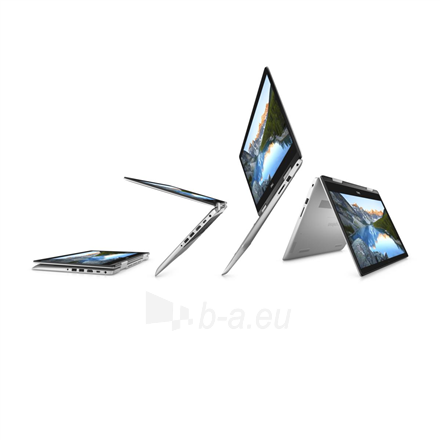 "Nešiojamas kompiuteris Dell Inspiron 14 5482 Silver, 14 "", IPS, Touchscreen, Full HD, 1920 x 1080 pixels, Intel Core i3, i3-8145U, 4 GB, DDR4, SSD 256 GB, Intel UHD, Windows 10 Home, 802.11ac, Keyboard language English, Keyboard backlit, Warranty 36 Paveikslėlis 5 iš 5 310820154499"