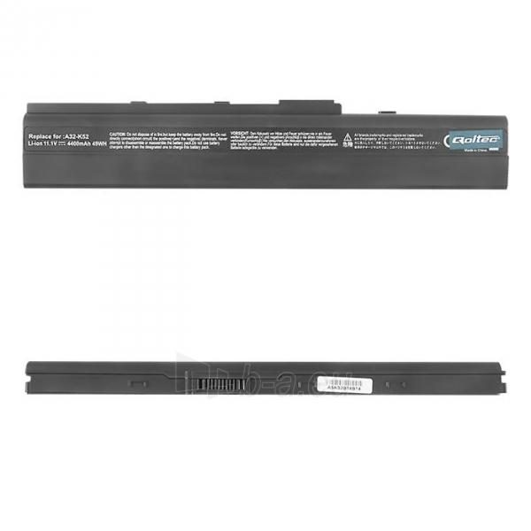 Nešiojamo kompiuterio baterija Qoltec Asus A32-K52 X42, 10.8-11.1 V, 4400mAh Paveikslėlis 1 iš 2 250254100571