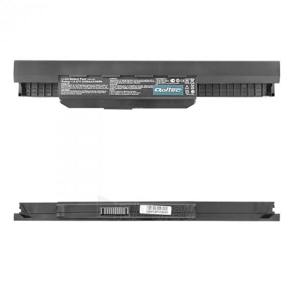Nešiojamo kompiuterio baterija Qoltec Asus K53 A32-K53, 11.1V, 5200mAh Paveikslėlis 1 iš 5 310820005329