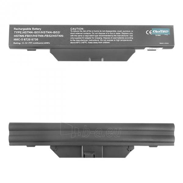 Nešiojamo kompiuterio baterija Qoltec HP 6720 10.8V, 4400mA Paveikslėlis 1 iš 5 310820005298