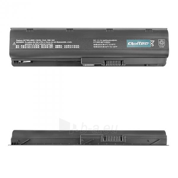 Nešiojamo kompiuterio baterija Qoltec HP/Compaq CQ62, 10.8-11.1 V, 4400mAh Paveikslėlis 1 iš 5 250254100580