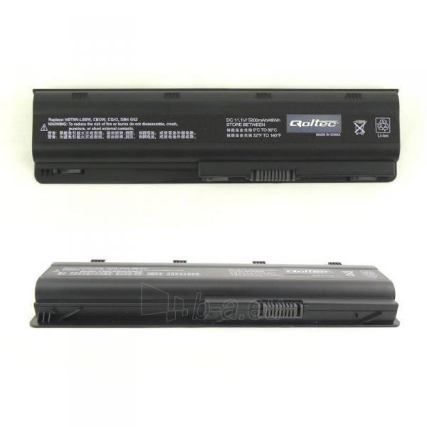Nešiojamo kompiuterio baterija Qoltec HP/Compaq CQ62, 10.8-11.1 V, 5200mAh Paveikslėlis 1 iš 2 250254100581