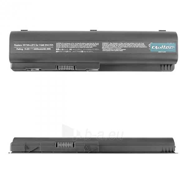 Nešiojamo kompiuterio baterija Qoltec HP CQ40/45, 10.8V, 4400mAh Paveikslėlis 1 iš 5 250254100575