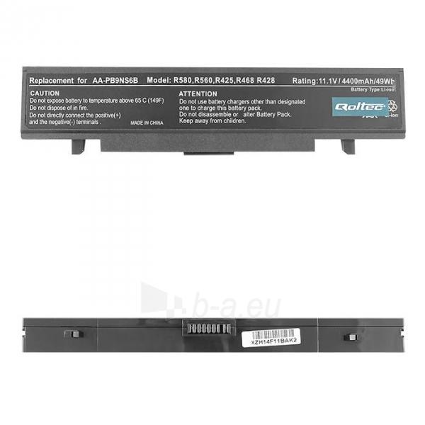 Nešiojamo kompiuterio baterija Qoltec Samsung R425 R428 11.1V, 4400mAh Paveikslėlis 1 iš 5 250254100439