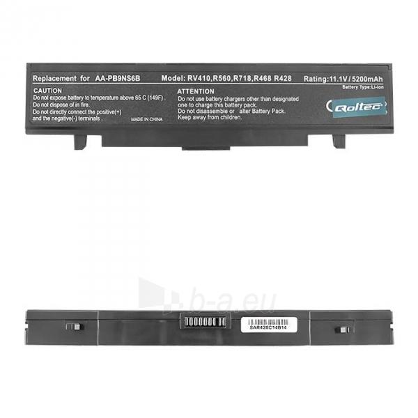 Nešiojamo kompiuterio baterija Qoltec Samsung R580, 11.1 V, 5200mAh Paveikslėlis 1 iš 4 250254100444