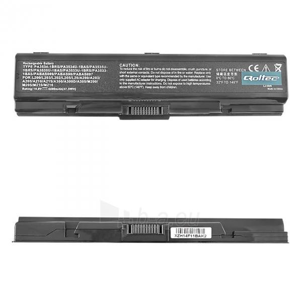 Nešiojamo kompiuterio baterija Qoltec Toshiba A200 A300, 10.8 V, 4400mAh Paveikslėlis 1 iš 4 250254100445