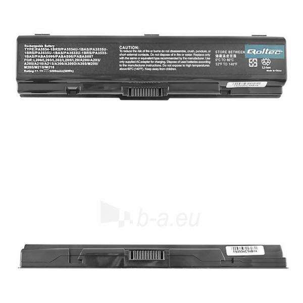 Nešiojamo kompiuterio baterija Qoltec Toshiba A200 A300, 10.8 V, 5200mAh Paveikslėlis 1 iš 4 250254100446