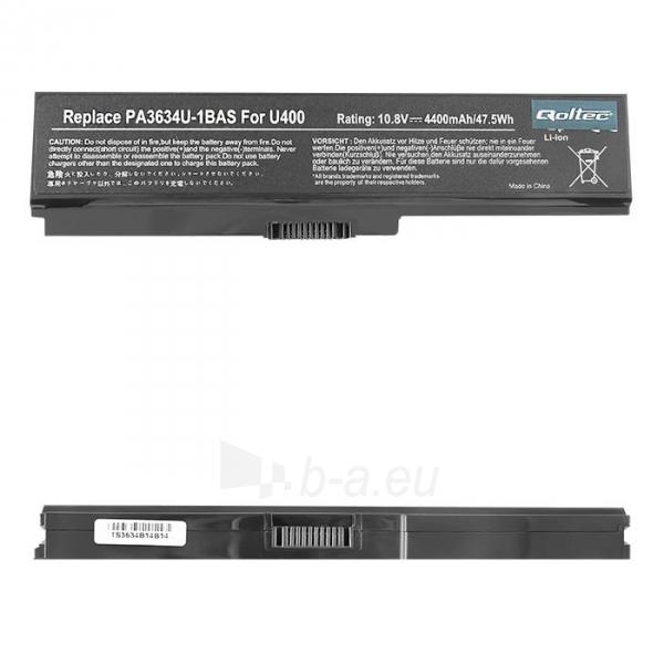 Nešiojamo kompiuterio baterija Qoltec Toshiba PA3634, 10.8-11.1 V, 4400mAh Paveikslėlis 1 iš 1 310820005354