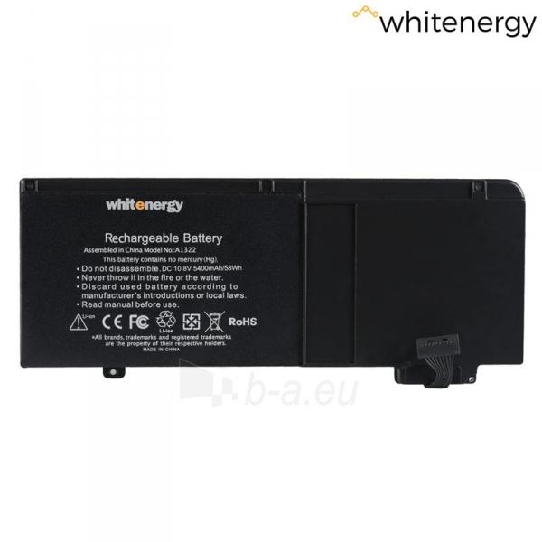 Nešiojamo kompiuterio baterija Whitenergy Apple MacBook A1322 10.8V 5400mAh Paveikslėlis 4 iš 6 310820005386