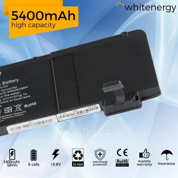 Nešiojamo kompiuterio baterija Whitenergy Apple MacBook A1322 10.8V 5400mAh Paveikslėlis 6 iš 6 310820005386
