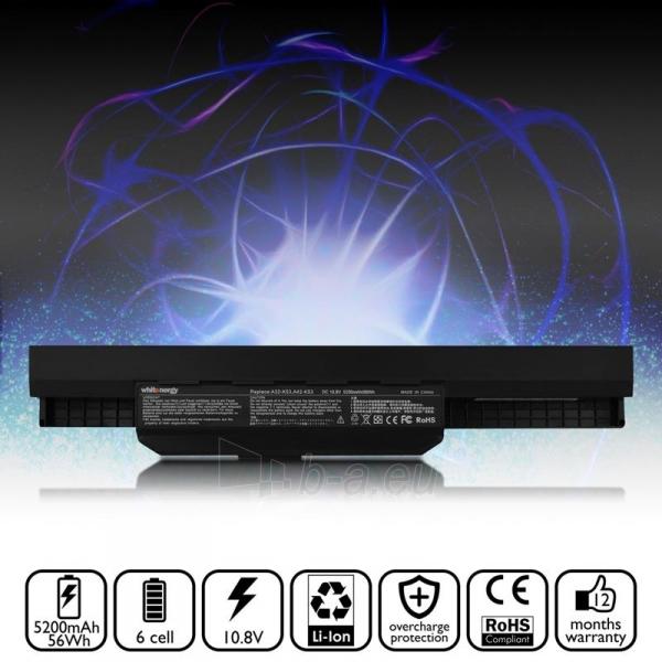 Nešiojamo kompiuterio baterija Whitenergy Asus A32-K53 10.8V 5200mAh Paveikslėlis 5 iš 6 250254100487