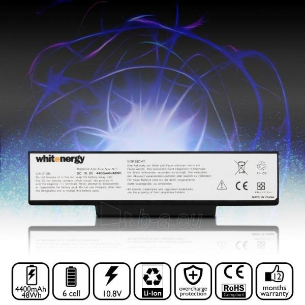 Nešiojamo kompiuterio baterija Whitenergy Asus A32-K72 11.1V 4400mAh juoda Paveikslėlis 6 iš 6 250254100732