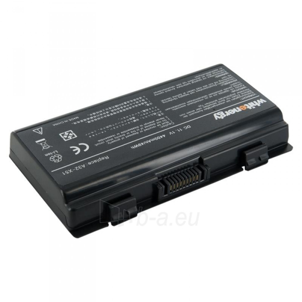 Nešiojamo kompiuterio baterija Whitenergy Asus A32-X51 11.1V 4400mAh Paveikslėlis 1 iš 3 250254100490