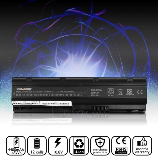 Nešiojamo kompiuterio baterija Whitenergy Compaq Presario CQ42 10.8V 8800mAh Paveikslėlis 5 iš 6 310820005346