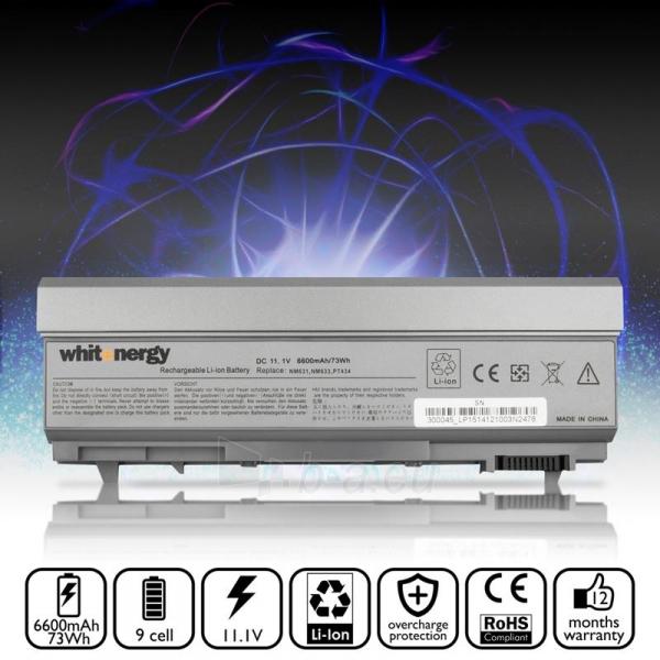 Nešiojamo kompiuterio baterija Whitenergy Dell Latitude E6500 11.1V 6600mAh Paveikslėlis 5 iš 7 250254100590