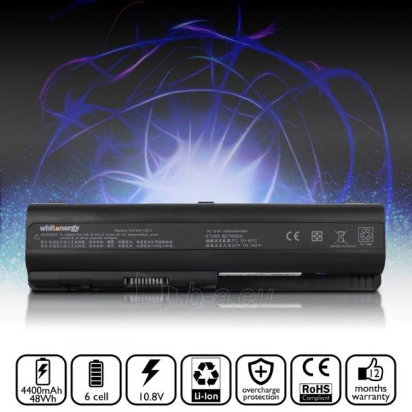Nešiojamo kompiuterio baterija Whitenergy HP Compaq Pavilion DV5 10.8V 4400 Paveikslėlis 5 iš 6 250254100644