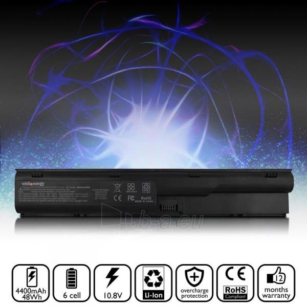Nešiojamo kompiuterio baterija Whitenergy HP ProBook 4330s 10.8V 4400mAh juoda Paveikslėlis 5 iš 6 310820005347