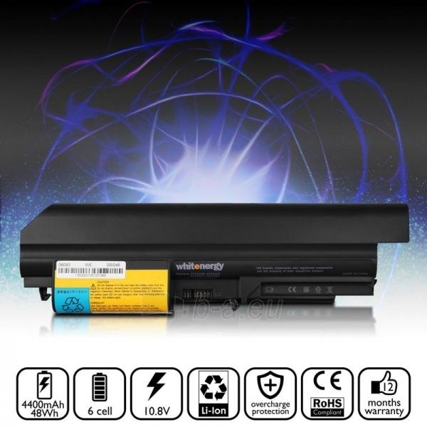 Nešiojamo kompiuterio baterija Whitenergy Lenovo ThinkPad R61i 14 10.8V 4400 Paveikslėlis 5 iš 7 250254100673