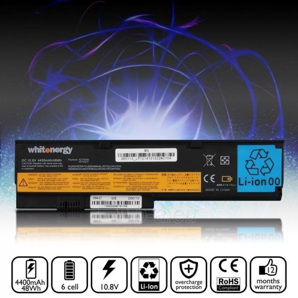 Nešiojamo kompiuterio baterija Whitenergy Lenovo ThinkPad X200 10.8V 4400mAh Paveikslėlis 5 iš 8 250254100679