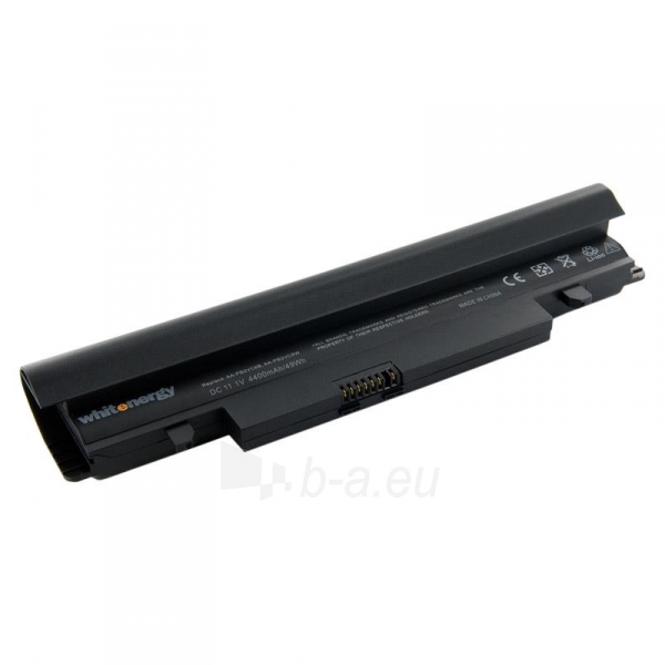 Nešiojamo kompiuterio baterija Whitenergy Samsung N148 11.1V 4400mAh juoda Paveikslėlis 1 iš 3 250254100542