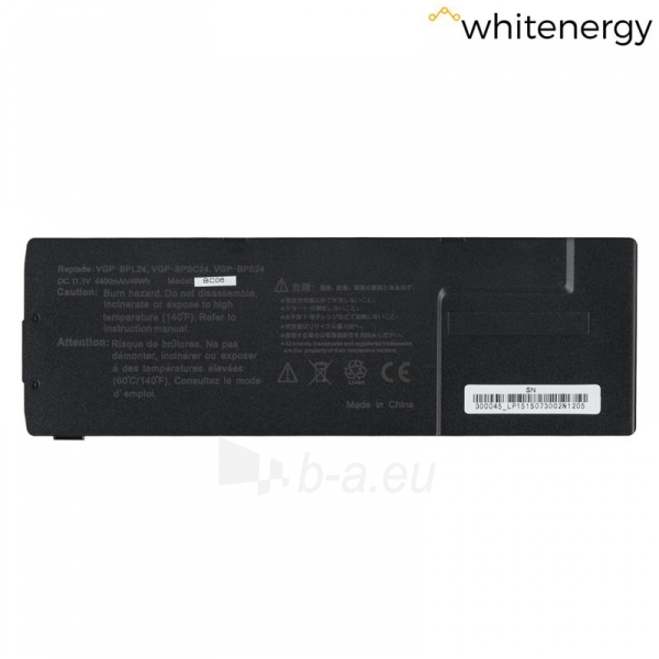 Nešiojamo kompiuterio baterija Whitenergy Sony VGP-BPS24 11.1V 4400mAh Paveikslėlis 1 iš 6 310820005387