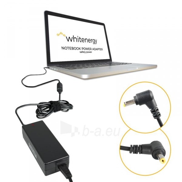 Nešiojamo kompiuterio pakrovėjas Whitenergy 12V/3A 36W, 4.8x1.7mm Asus Eee PC Paveikslėlis 3 iš 5 250256400978