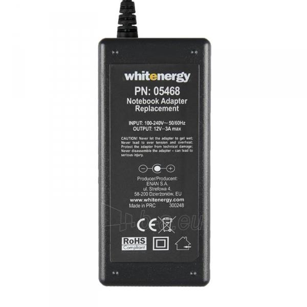 Nešiojamo kompiuterio pakrovėjas Whitenergy 12V/3A 36W, 4.8x1.7mm Asus Eee PC Paveikslėlis 4 iš 5 250256400978