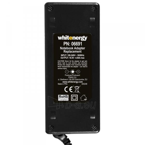Nešiojamo kompiuterio pakrovėjas Whitenergy 18.5V/4.9A 90W, 7.4x5.0mm pin HP Paveikslėlis 4 iš 5 250256400980