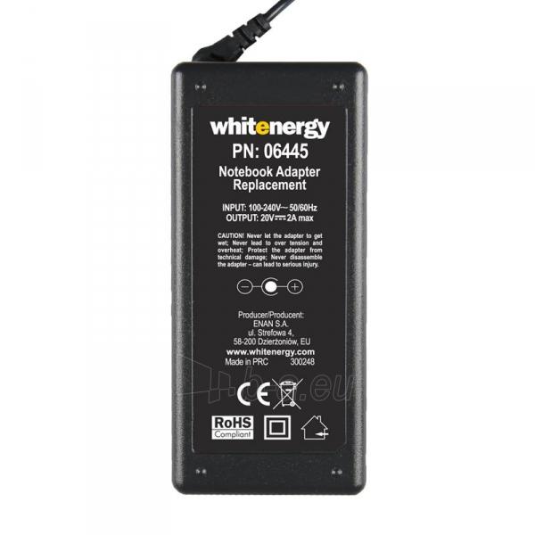 Nešiojamo kompiuterio pakrovėjas Whitenergy 20V/2A 40W, 5.5x3.0mm  pin Samsung Paveikslėlis 4 iš 5 250256401200