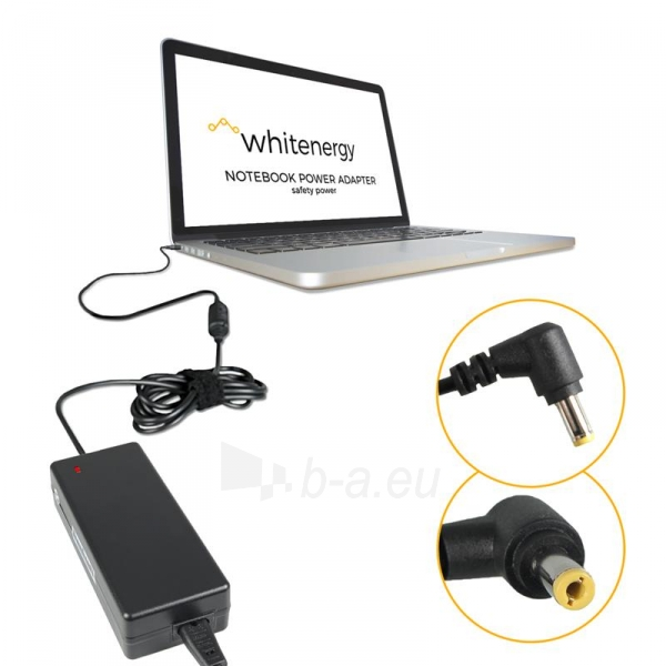 Nešiojamo kompiuterio pakrovėjas Whitenergy 20V/3.25A 65W, 5.5x2.5mm Iškili Paveikslėlis 3 iš 5 250256401001