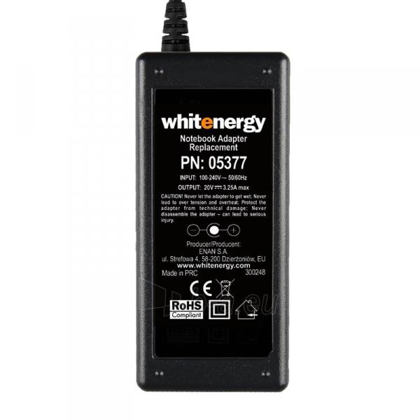 Nešiojamo kompiuterio pakrovėjas Whitenergy 20V/3.25A 65W, 5.5x2.5mm Iškili Paveikslėlis 4 iš 5 250256401001